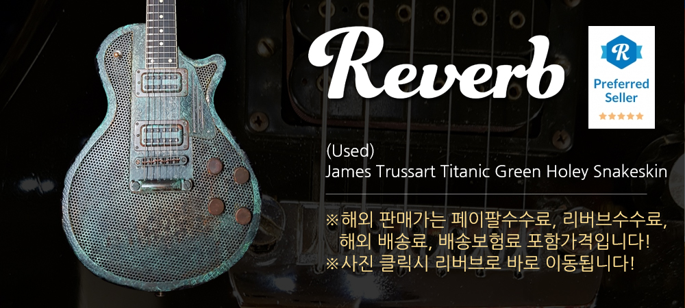 (중고) James Trussart Titanic Green Holey Snakeskin
