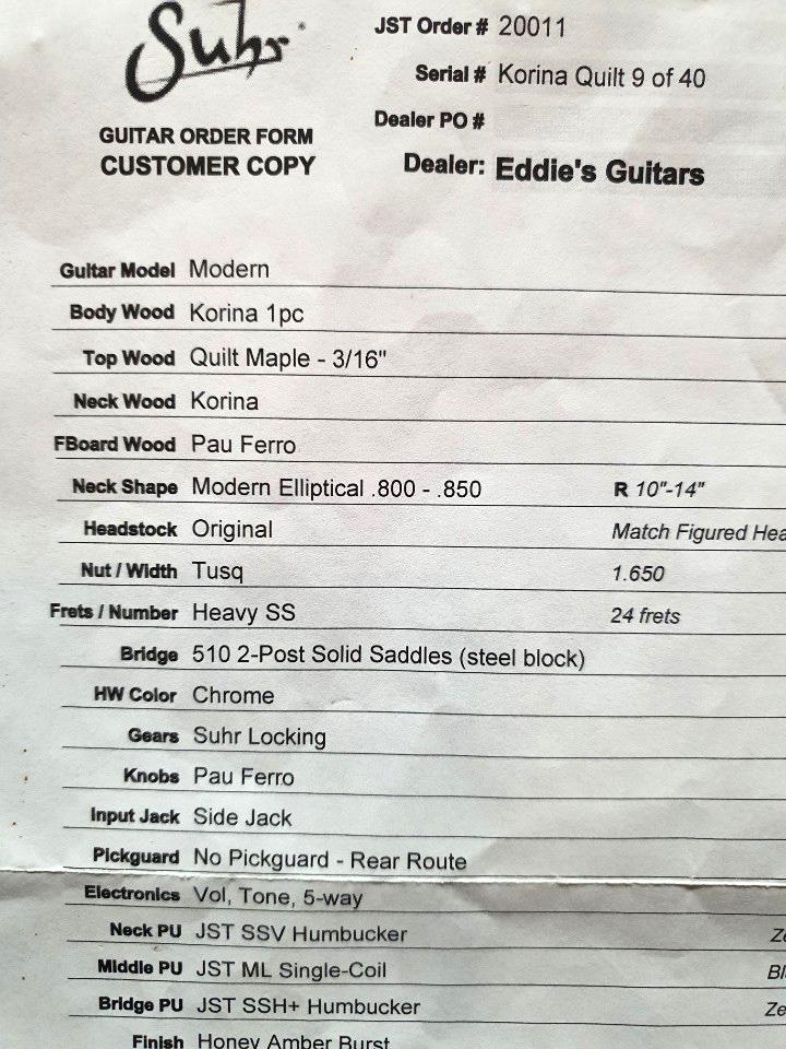2012 Suhr Modern Korina Quilt 9 of 40 (3.2kg)